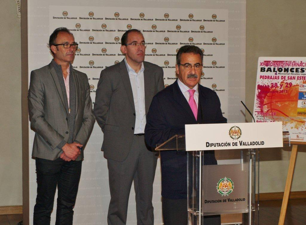 Presentaci&oacute;n del XIV Torneo Internacional de Baloncesto Memorial Nicolas Lopez Gay de Pedrajas de San Esteban