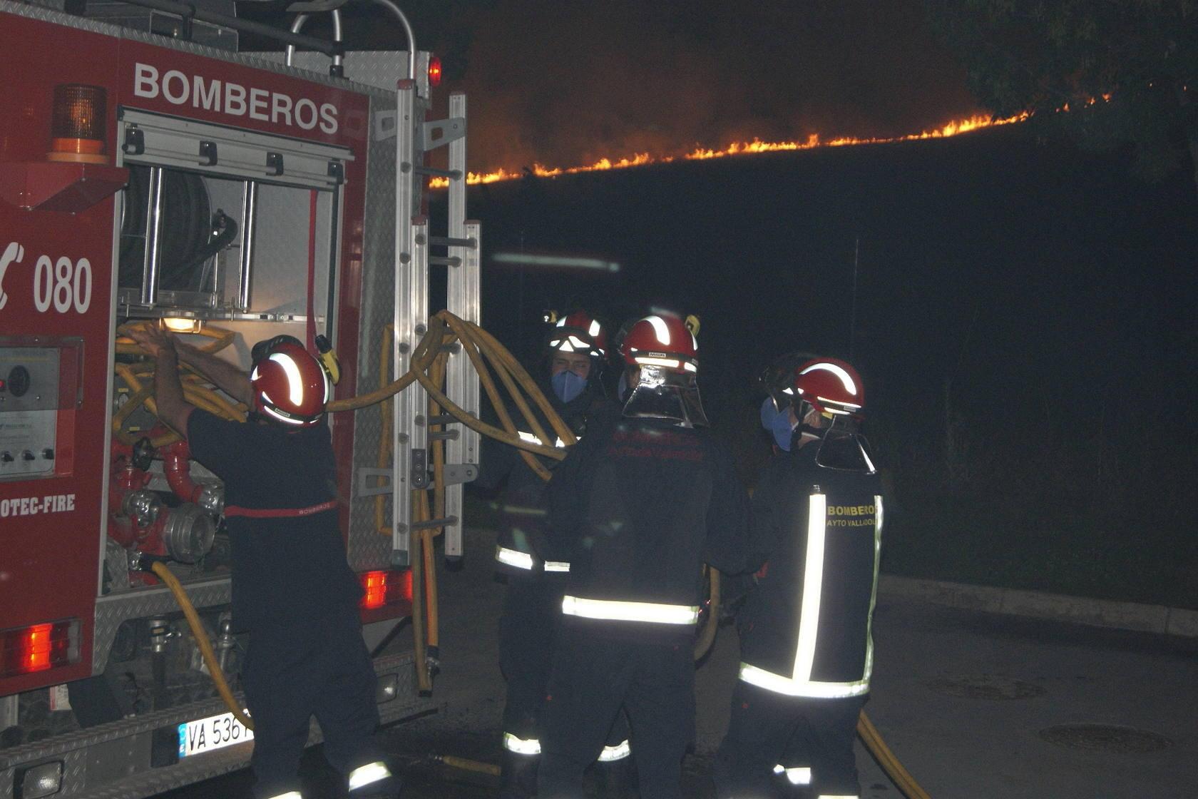 Incendio en Arroyo de la Encomienda. Valladolid
