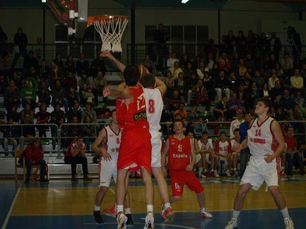 Torneo de baloncesto cadete: Espa&ntilde;a-Rusia