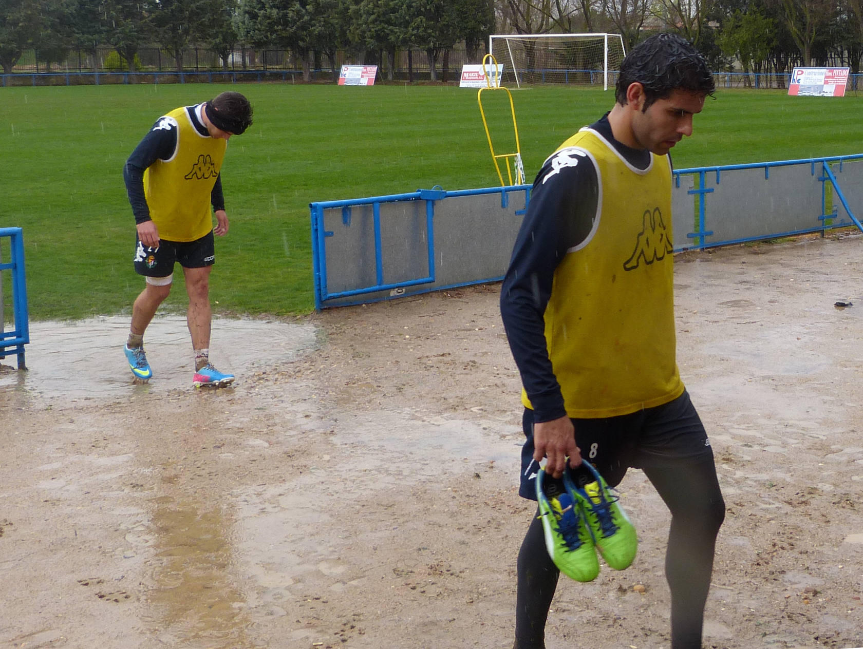 Entrenamiento Real Valladolid en Medina de Rioseco