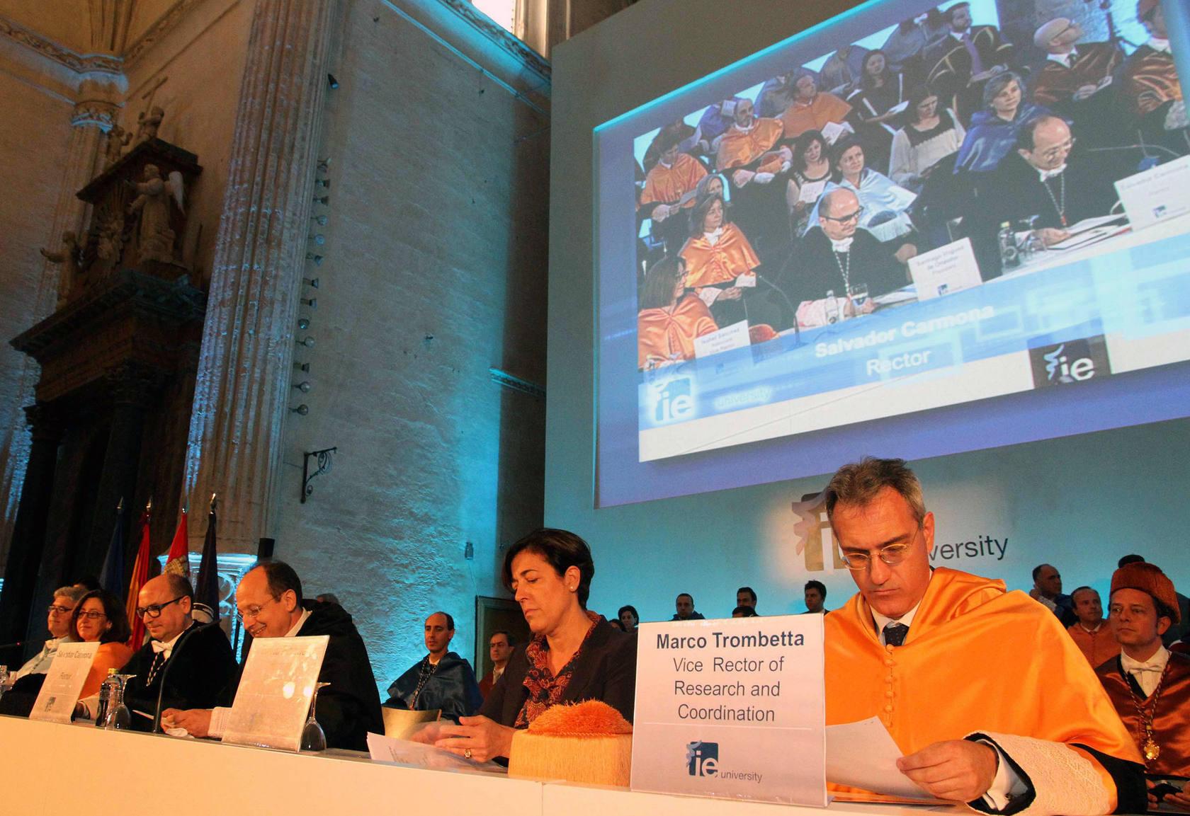 Acto de graduación de la IE Universidad 2013 en su campus de Segovia
