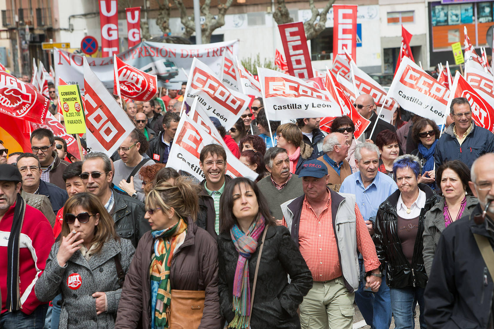 Las manifestaciones del 1 de Mayo en Castilla y Le&oacute;n