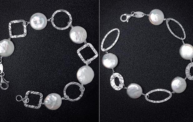 Pulsera plata de ley y perla cultivada 19€