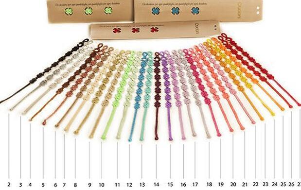 3 pulseras Cruciani en 30 colores 12€