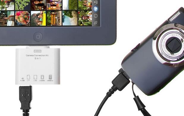 Adaptador 5 en 1 para iPad 8€