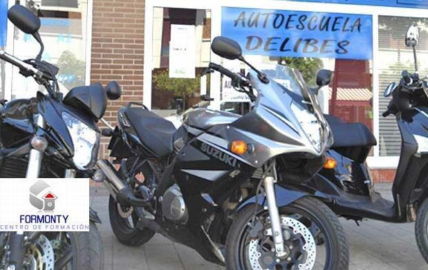 Carné de moto A2 o coche B desde 29€