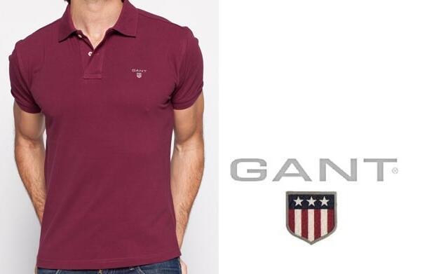 Polo color burdeos Gant 37€