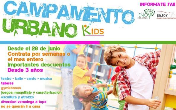 Semana de campamento urbano para niños de 3 a 12 años