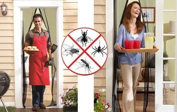Cortina mosquitera y cierre magnético 9,50€