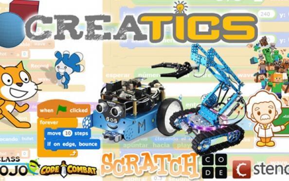 Taller Creatics para niños: programa un videojuego y un robot