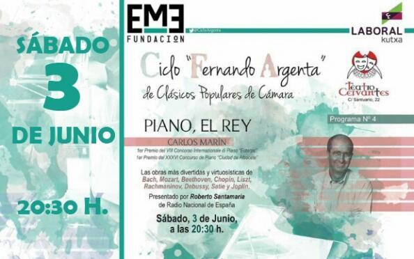 Ciclo Fernando Argenta: piano, el rey en el Teatro Cervantes