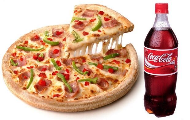 Pizza familiar 3 ingredientes+refresco 1L 11,95€
