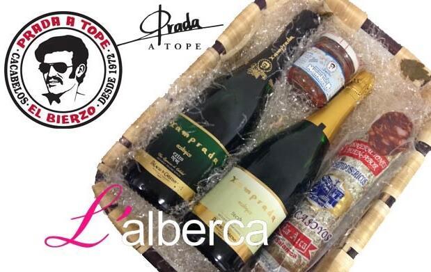 Lote Navidad chorizo ibérico y champán,25€
