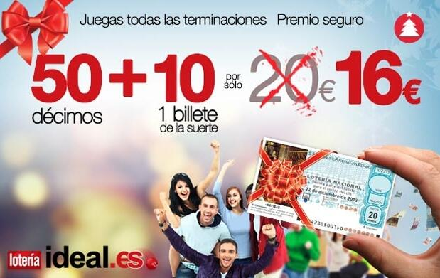 Lotería de Navidad en loteriaideal.es 16€