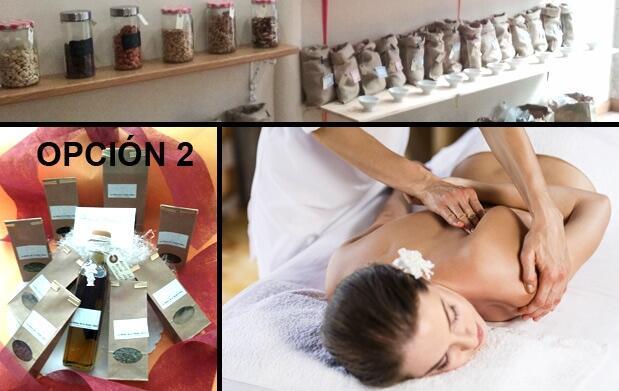 Cesta de 8 especias y opción de masaje