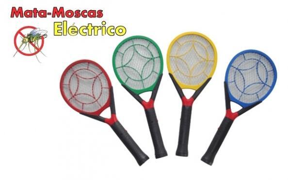 Raqueta eléctrica mata moscas y mosquitos