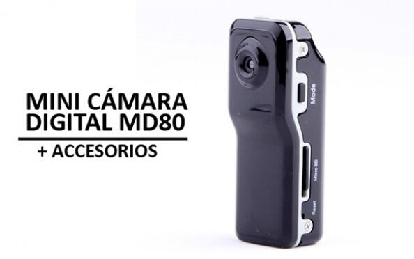 Mini Cámara Digital MD-80 + Accesorios