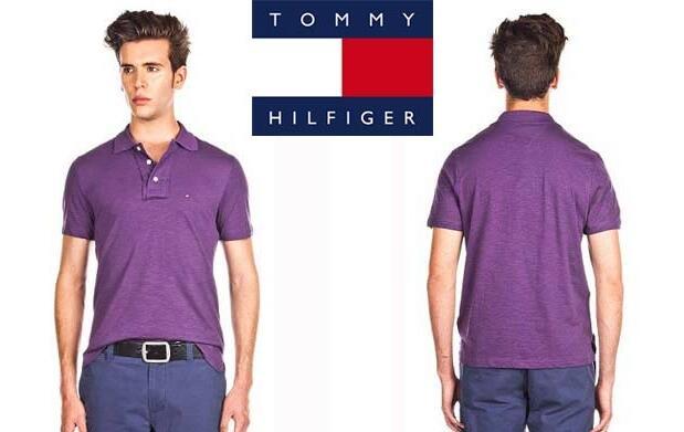 Polo Tommy Hilfiger Morado 37€