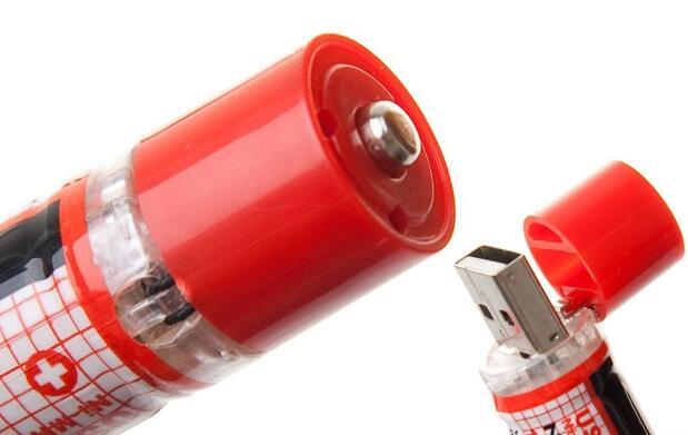 2 Pilas recargables con conector USB 9€