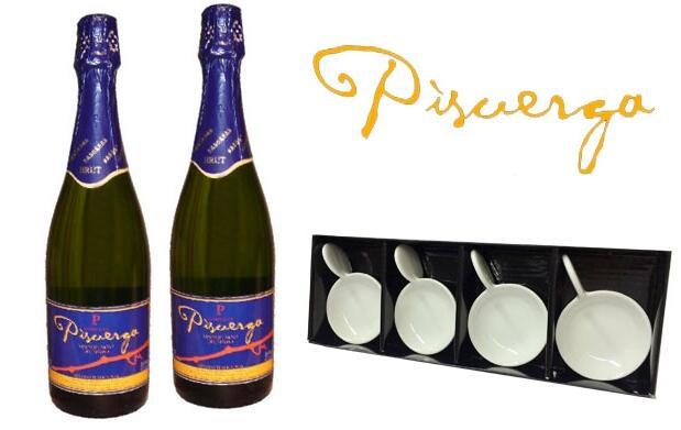 2 botellas Pisuerga Brut+set cucharas 9,90€