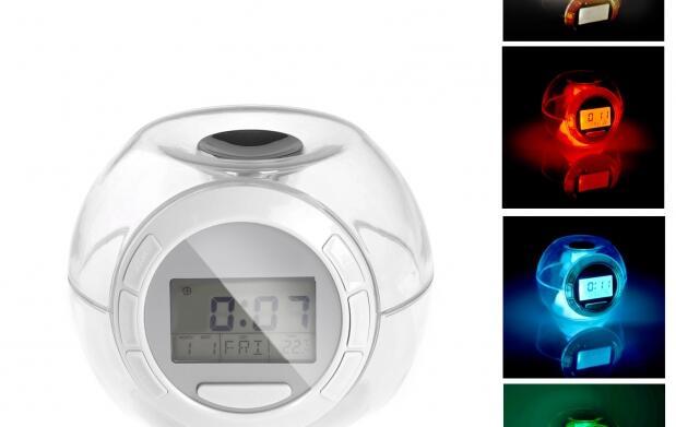 Reloj led con sonidos naturales por 12 euros