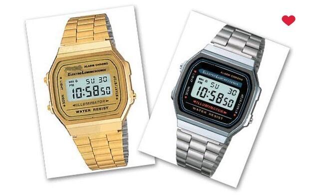 Relojes tipo Casio dorado o plata 5.90€