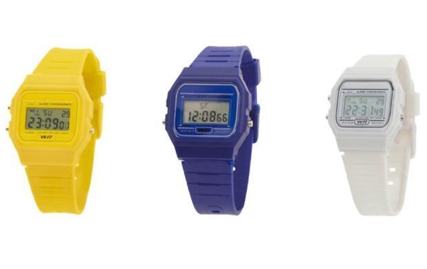 Relojes tipo Casio en colores 4.99€