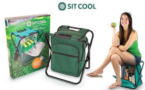 Sit Cool 3 en 1: silla plegable, bolsa térmica y mochila