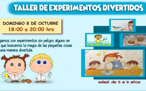 Taller de experimentos para niños el 8 de octubre ¡16 plazas!