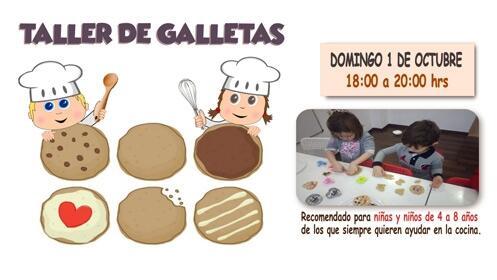 Taller de galletas para niños el 1 de octubre ¡16 plazas!