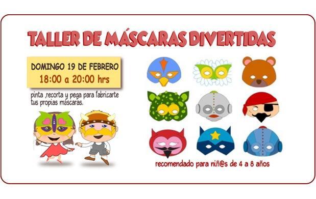 Taller máscaras para niños ¡20 plazas!