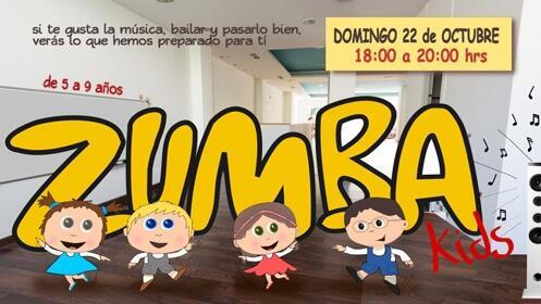 Taller de Zumba para niños el 22 de octubre ¡16 plazas!