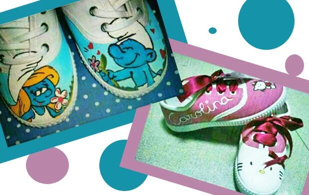 Zapatillas personalizadas pintadas 25€