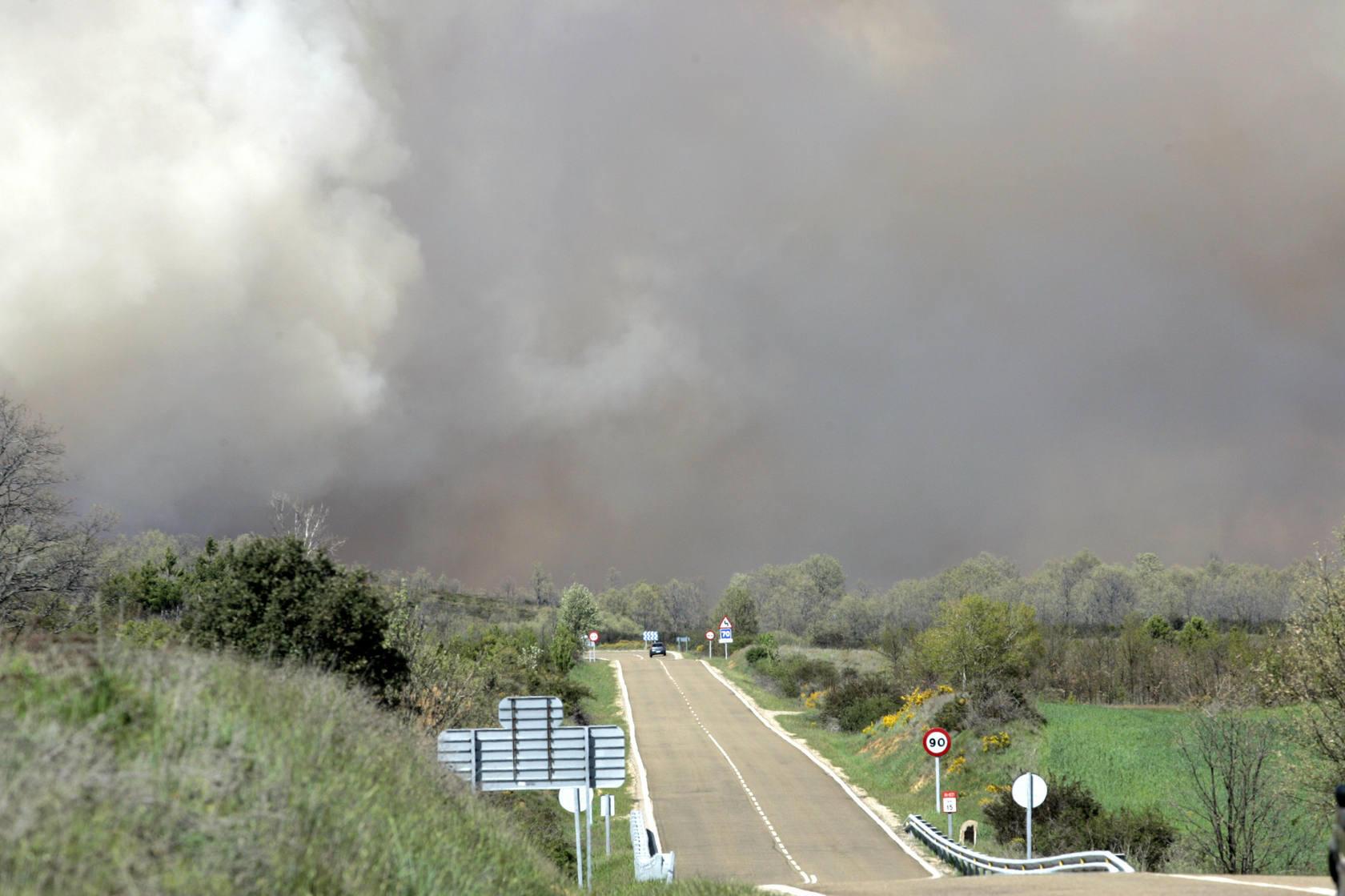 Incendio en la localidad leonesa de Santovenia del Monte