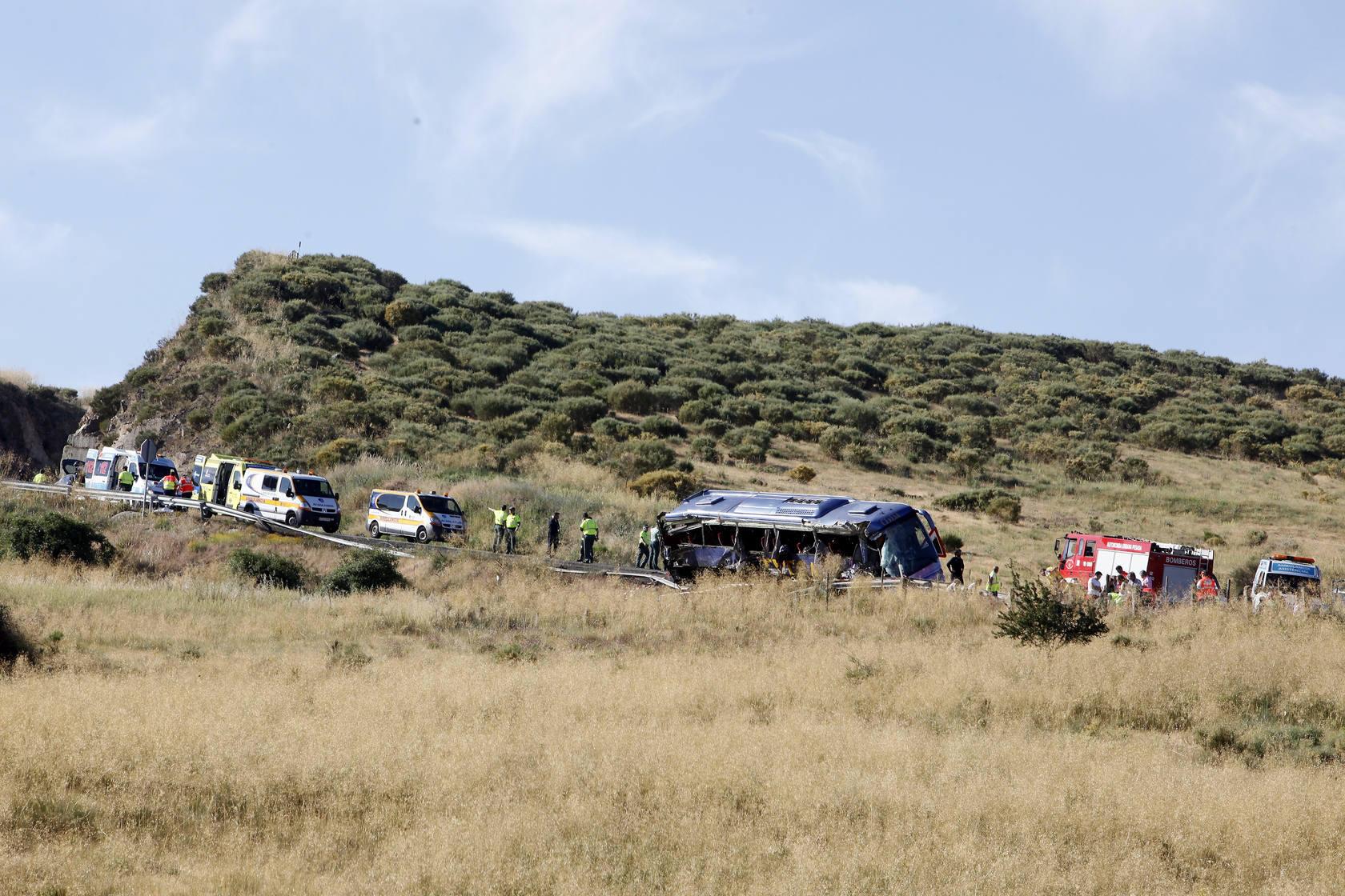 Accidente de autobús en Tornadizos de Ávila.