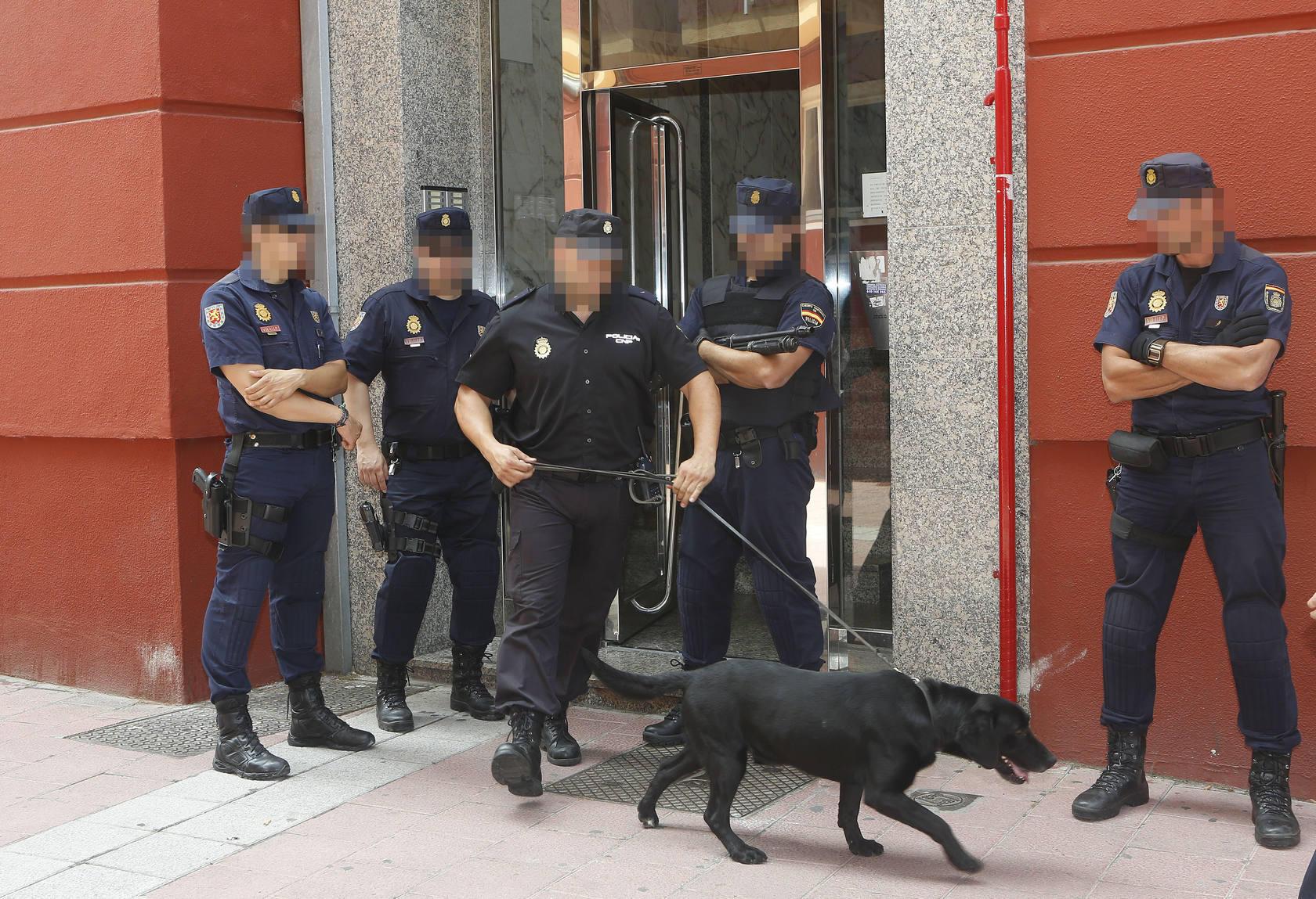 Detenciones en la calle de Salud en Valladolid