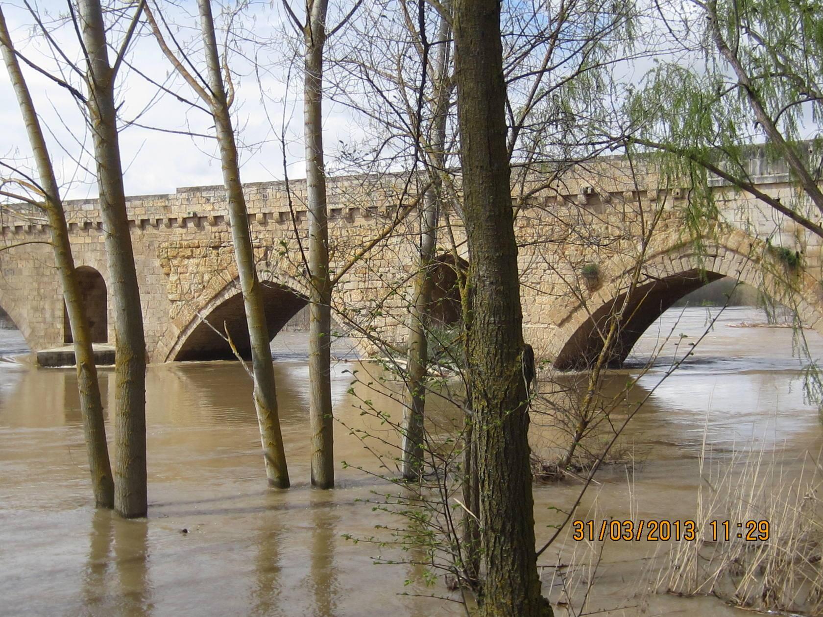 El Duero a su paso por Toro (Zamora)