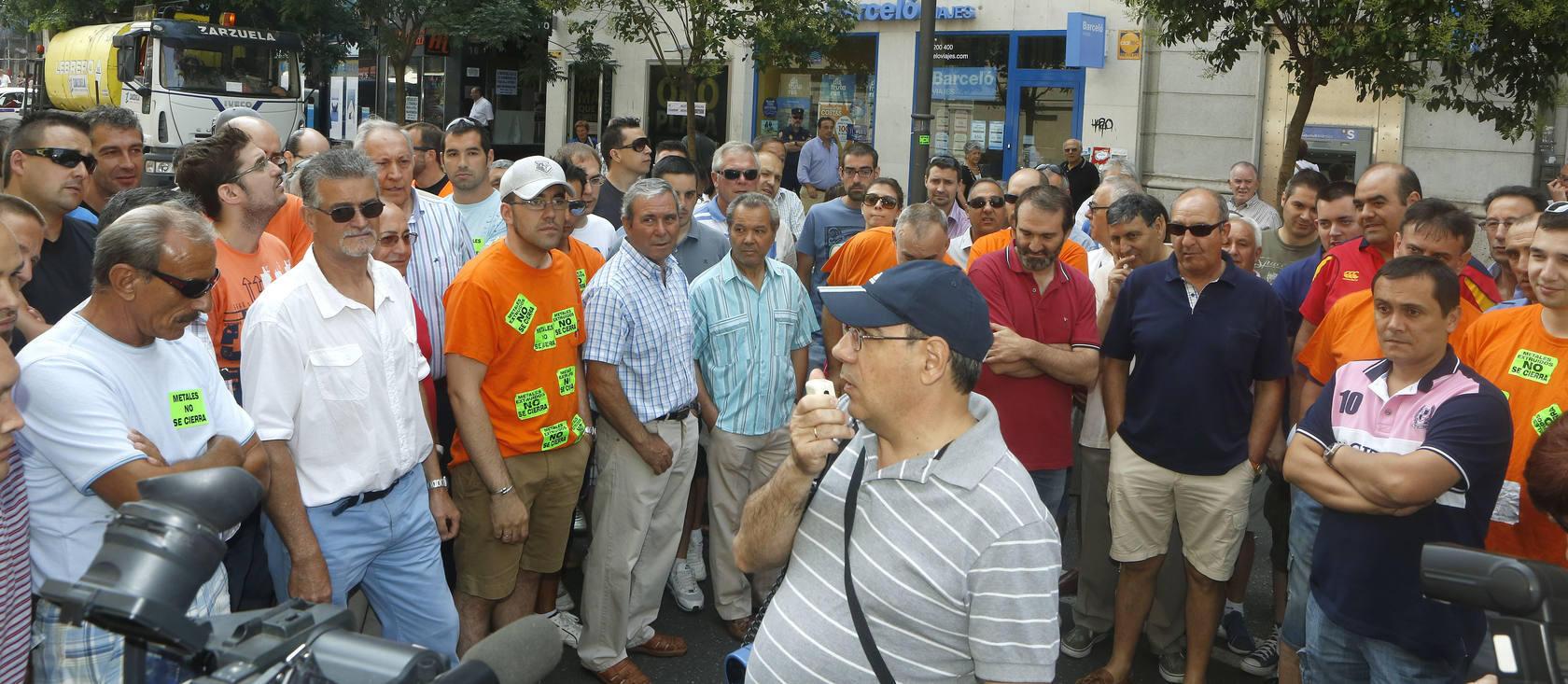 Manifestación de Metales Extruidos en Valladolid