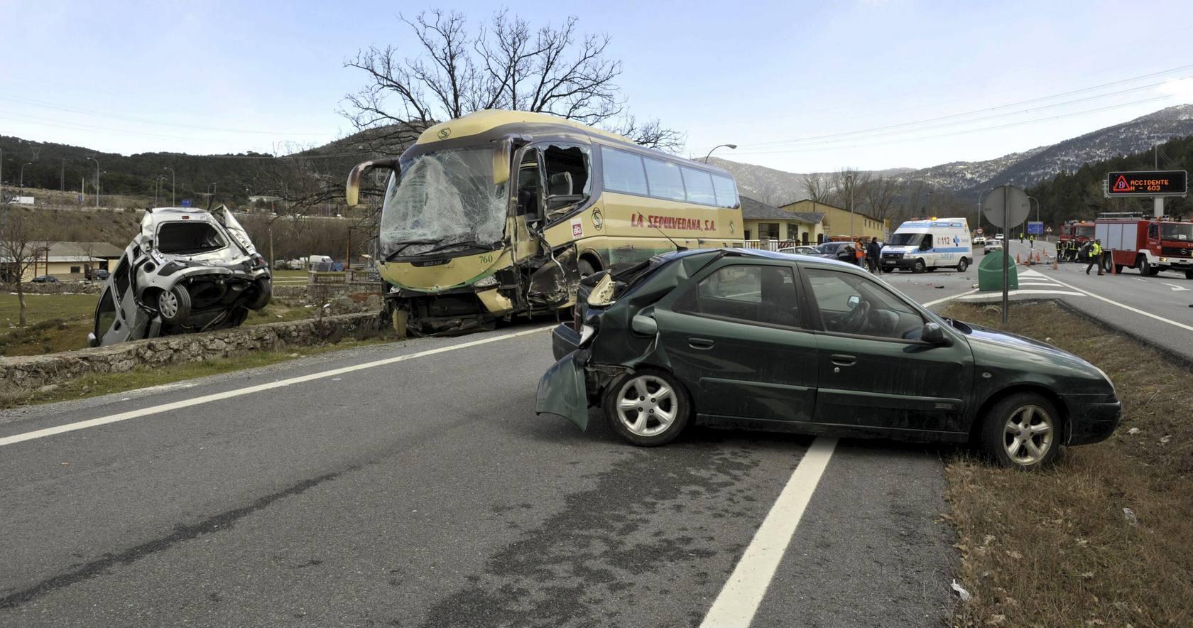 Galería de imágenes de accidentes mortales de autobús en Castilla y León
