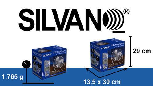 Ventilador de alta velocidad 23 cm. Silvano