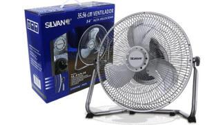 Ventilador alta velocidad y rejilla de metal Silvano