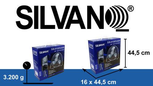 Ventilador alta velocidad y diseño retro Silvano