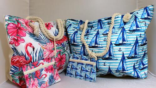 Ve a la moda con esta bolsa de tela para la playa