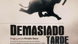 Espectáculo 'Demasiado tarde' en el Teatro Cervantes