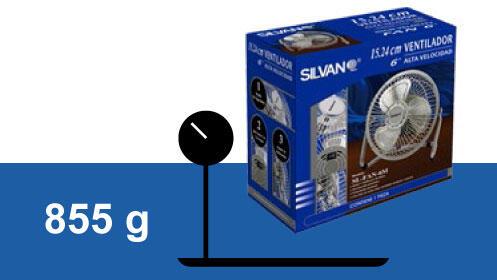 Ventilador de alta velocidad acabado en cromo Silvano