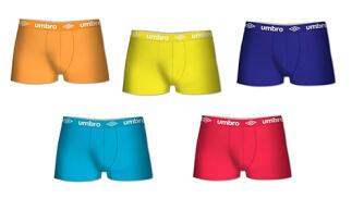 Pack 15 calzoncillos Umbro en varios colores para hombre