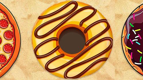 Toalla redonda para la playa, modelos dulces