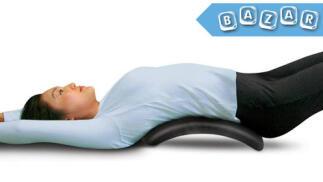 Camilla acolchada para estiramientos de espalda