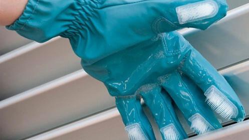 Pack de dos guantes de limpieza con cepillos