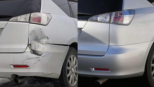 Oferta en reparación y pintura de golpe de coche
